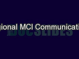 Regional MCI Communications