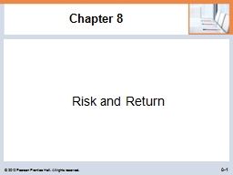 Chapter 8 Risk and Return PowerPoint PPT Presentation