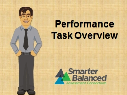 Performance Task Overview PowerPoint PPT Presentation