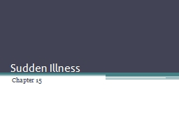 Sudden Illness Chapter 15