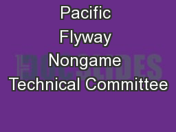 Pacific Flyway Nongame Technical Committee