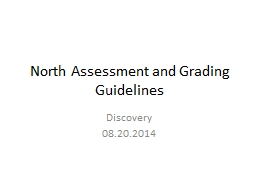 North Assessment and Grading Guidelines