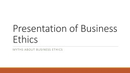 Presentation  Of  Business
