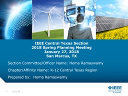 IEEE  Central Texas Section