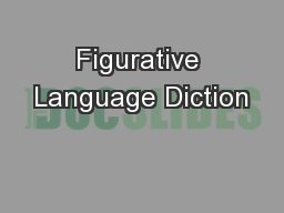 Figurative Language Diction