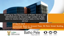 Briefing by the Department of Public Service and Administration on the average number of days taken