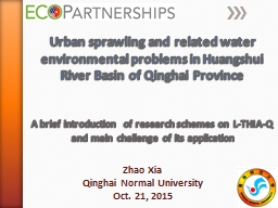 Urban  sprawling and related water environmental problems in