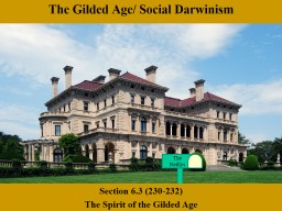 The Gilded Age/ Social Darwinism