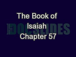 The Book of Isaiah Chapter 57