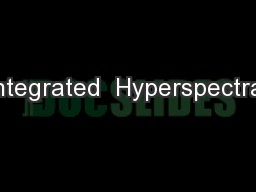 Integrated  Hyperspectral