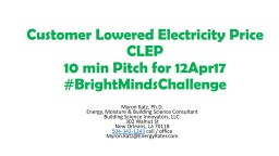 Customer Lowered Electricity Price    CLEP