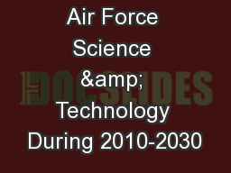 A Vision for Air Force Science & Technology During 2010-2030