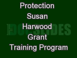 Fall Protection Susan Harwood Grant Training Program