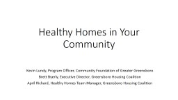 Healthy Homes in Your Community