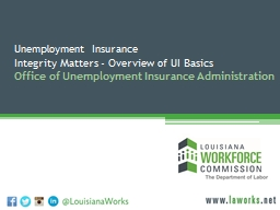 Unemployment  Insurance Integrity Matters - Overview