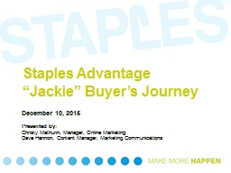 "Staples Advantage  ""Jackie"" Buyer's Journey"