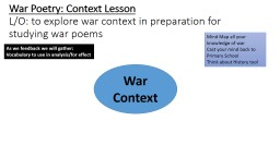 War Poetry: Context Lesson