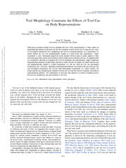 Tool Morphology Constrains the Effects of Tool Use on