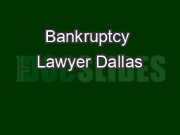 Bankruptcy Lawyer Dallas