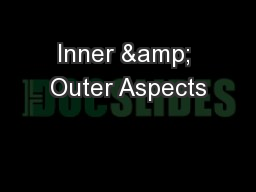 Inner & Outer Aspects