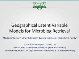 Geographical Latent Variable Models for Microblog Retrieval