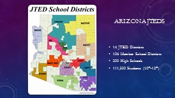 Arizona JTeds 14 JTED Districts