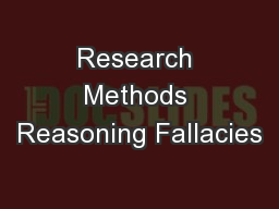 Research Methods Reasoning Fallacies