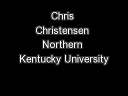Chris Christensen Northern Kentucky University
