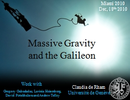 Massive Gravity and the