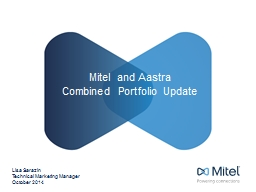 Mitel and Aastra  Combined
