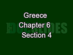 Greece Chapter 6  Section 4