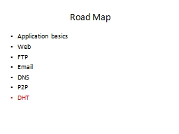 Road Map Application basics