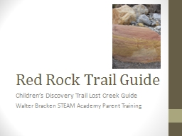 Red Rock Trail Guide Children's Discovery Trail Lost Creek