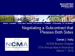 Negotiating a Subcontract that