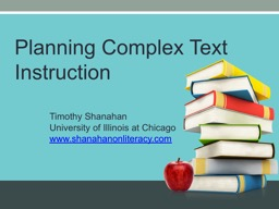 Planning Complex  Text Instruction