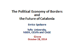 The Political Economy  of Borders