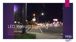 Signalized Intersection  Lighting