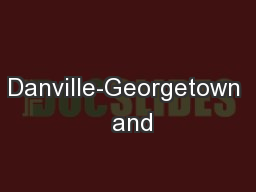 Danville-Georgetown  and
