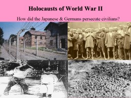 Holocausts of World War II