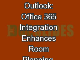 SmartHOTEL Planner Add-In for Outlook: Office 365 Integration Enhances Room Planning, Booking, and
