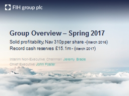 Group Overview –  Spring 2017
