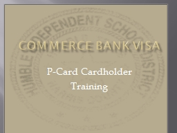 Commerce Bank Visa P-Card Cardholder