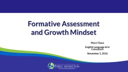 Formative Assessment and Growth Mindset