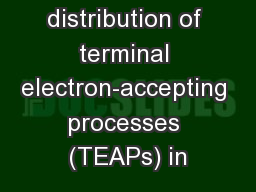 Deducing the distribution of terminal electron-accepting processes (TEAPs) in