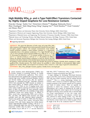 High Mobility WSe and n Type FieldE ect Transistors Co