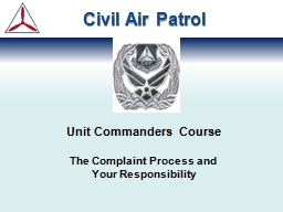 Unit Commanders Course The Complaint Process and PowerPoint PPT Presentation