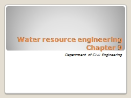 Water resource engineering