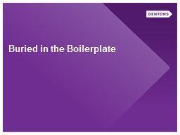 Buried in the Boilerplate PowerPoint Presentation, PPT - DocSlides