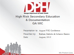 High Risk Secondary Education