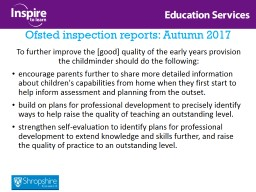 Ofsted inspection reports: Autumn 2017